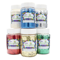 Craft Bio-glitter® 6 x 100g Shakers