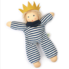 Nanchen Organic Waldorf Doll - Little King Karl - 33cm