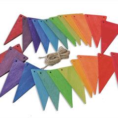 Grimm's Wooden Rainbow Bunting