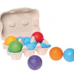 Grimm's Set of Wooden Balls -  Rainbow
