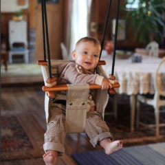 Solvej Baby and Toddler Swing - Soft Linen