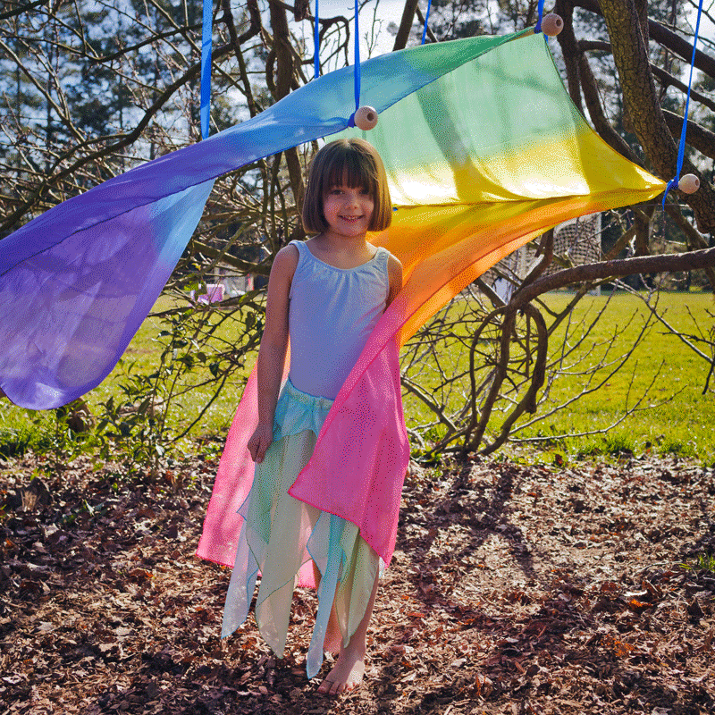 Sarah's Silks - Giant Silk Scape - Rainbow | Toys | Products